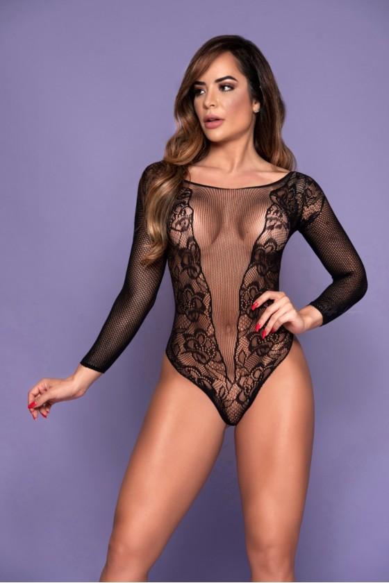 body sensual feminino preto...